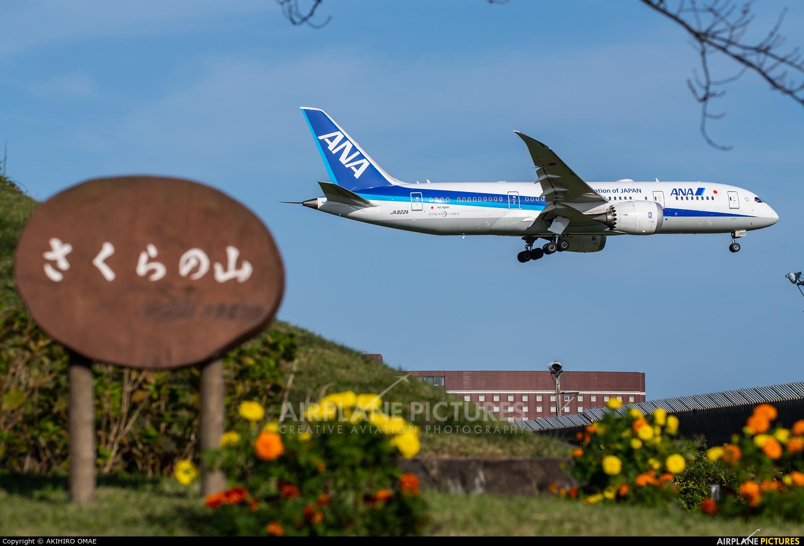 ANA - All Nippon Airways JA822A aircraft at Tokyo - Narita Intl