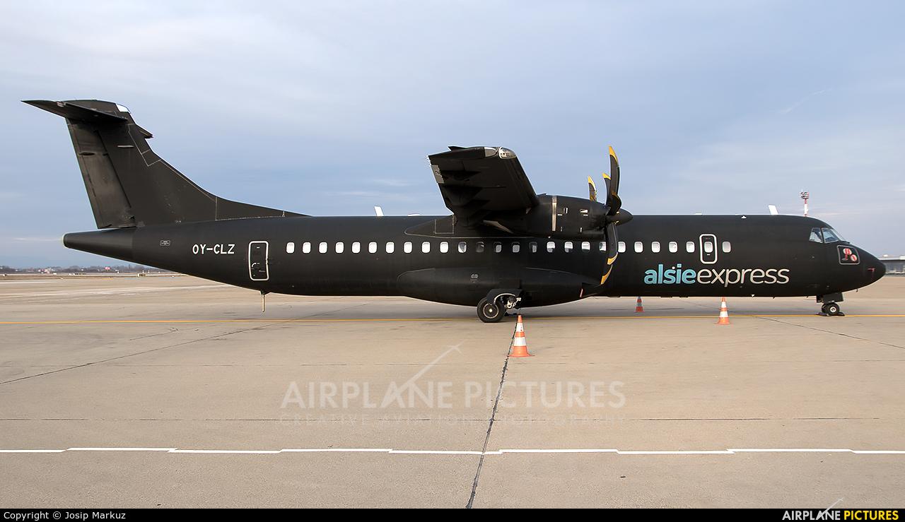 Alsie Express OY-CLZ aircraft at Zagreb