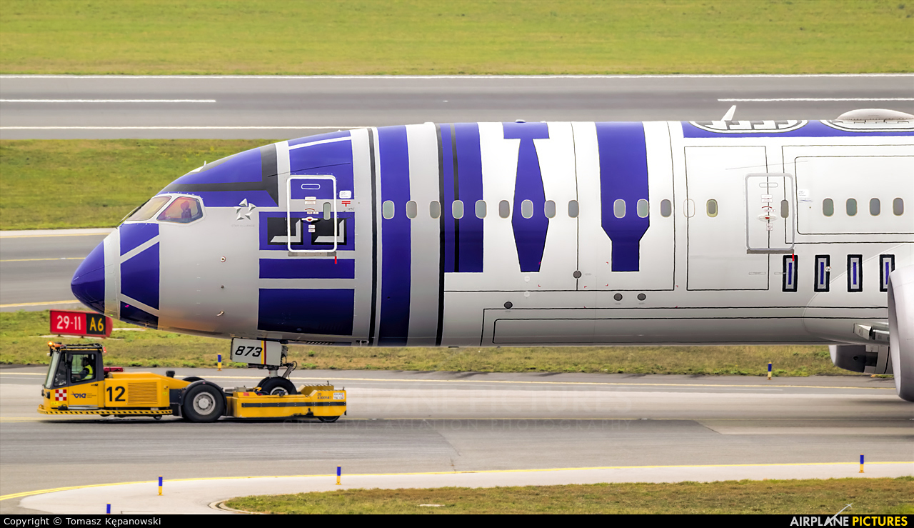 ANA - All Nippon Airways JA873A aircraft at Vienna - Schwechat