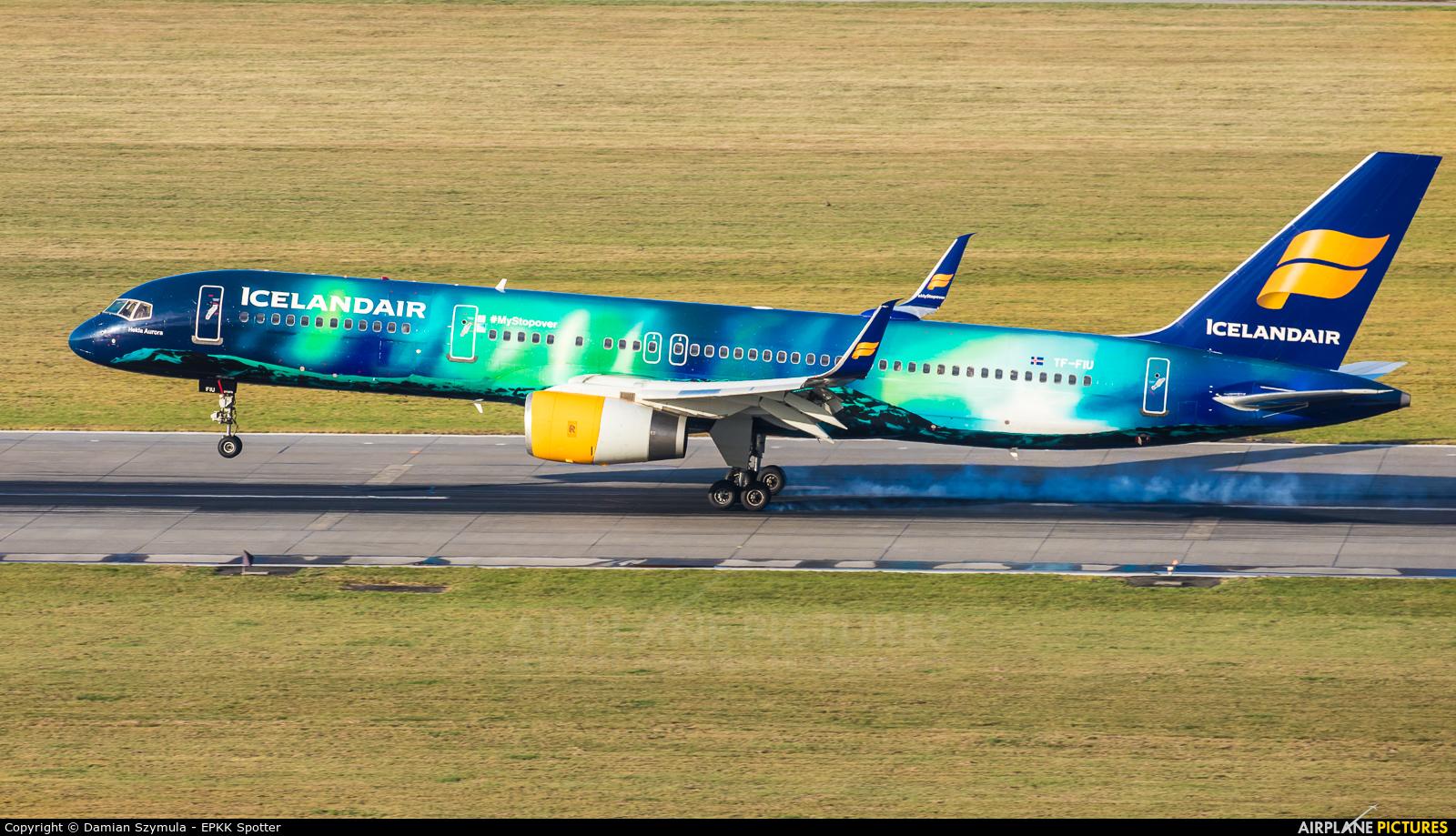 Icelandair TF-FIU aircraft at Kraków - John Paul II Intl