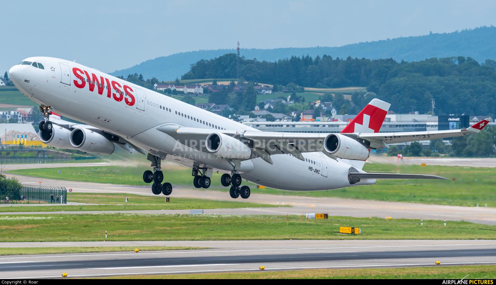 Swiss HB-JMC aircraft at Zurich