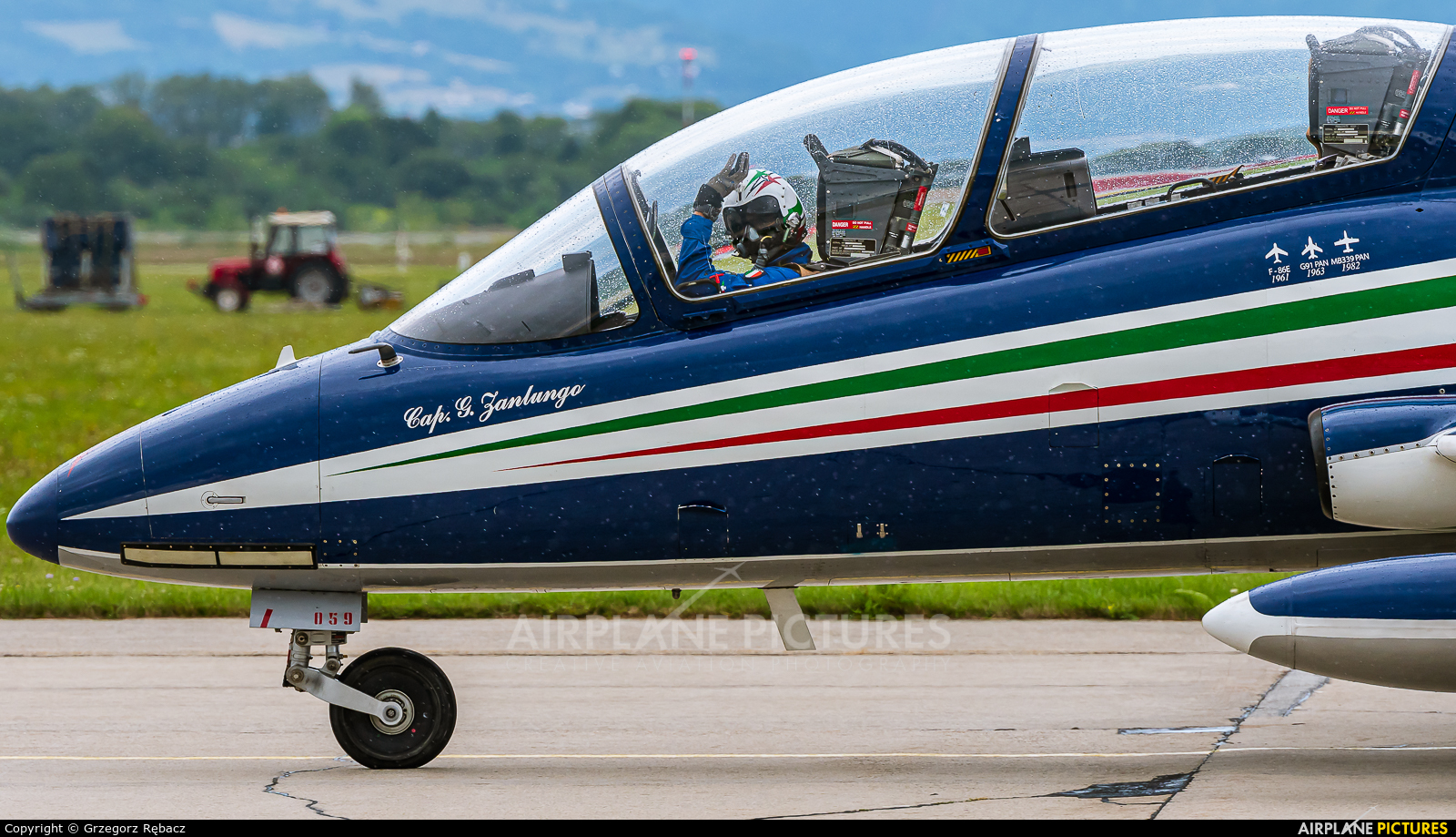 "Italy - Air Force ""Frecce Tricolori"" MM55059 aircraft at Sliač"