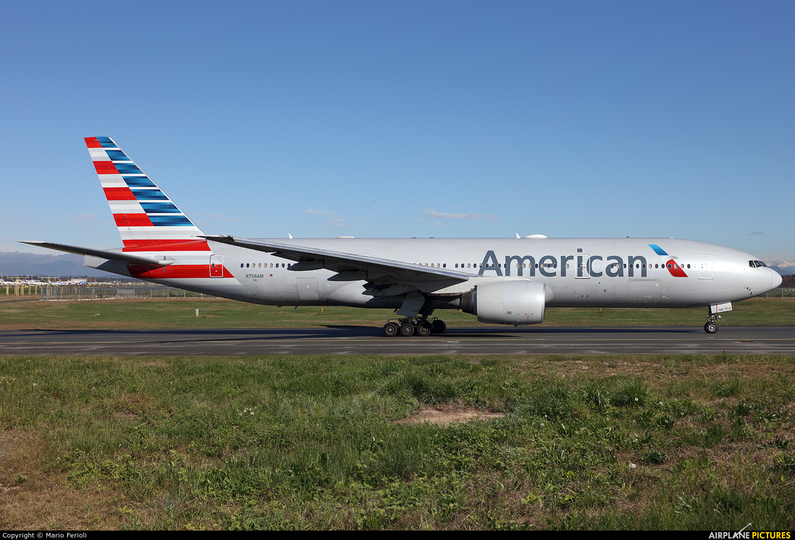 American Airlines N756AM aircraft at Milan - Malpensa
