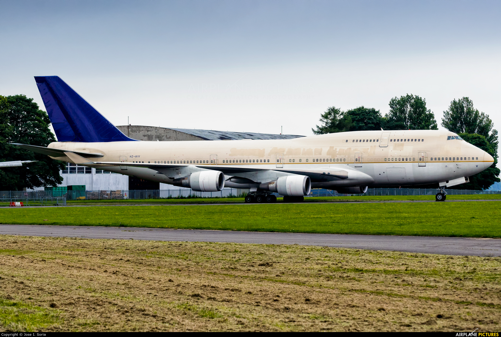 Saudi Arabian Airlines HZ-AIV aircraft at Kemble