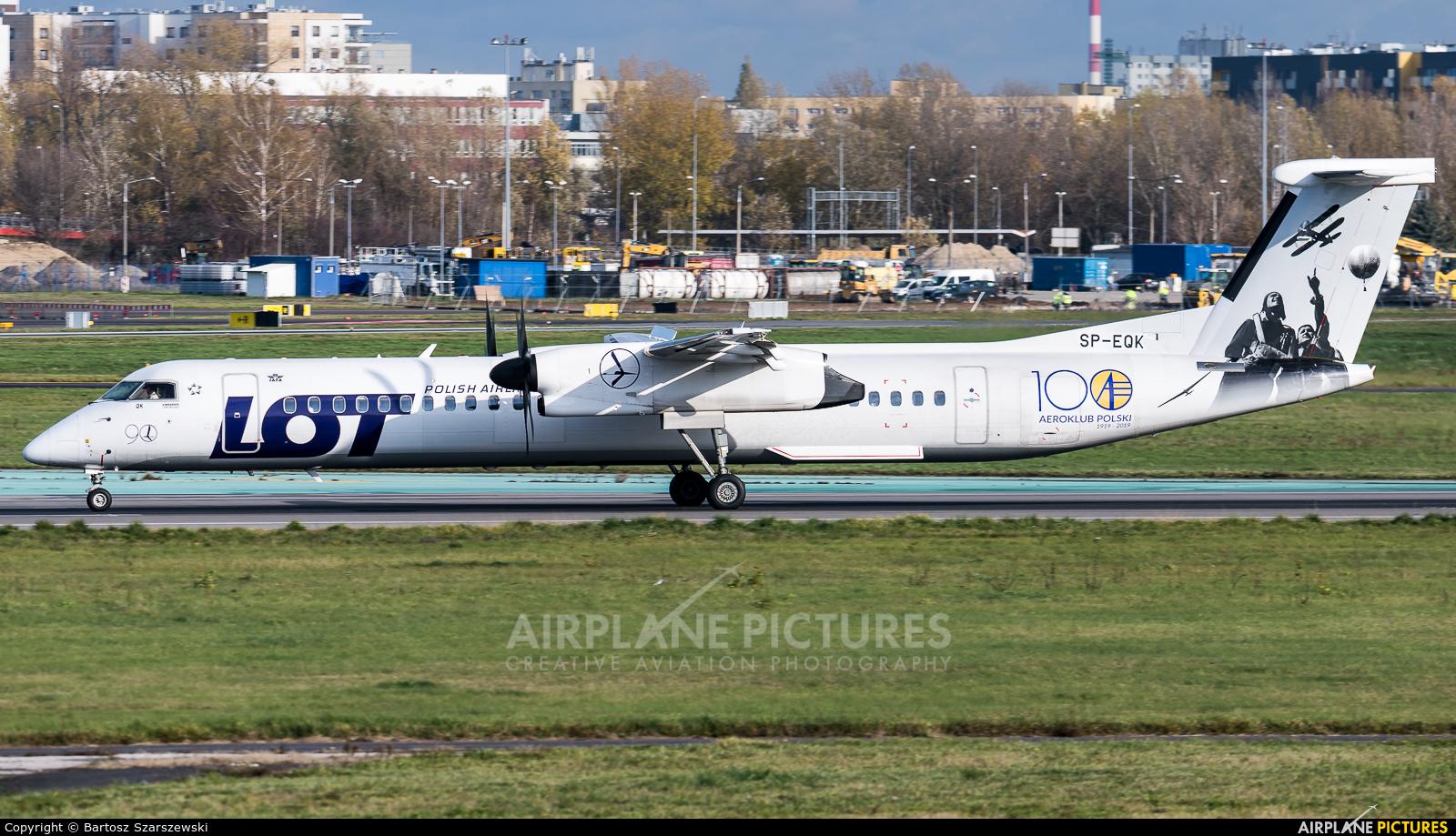 LOT - Polish Airlines SP-EQK aircraft at Warsaw - Frederic Chopin