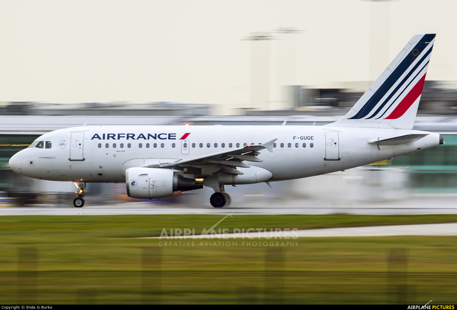 Air France F-GUGE aircraft at Manchester