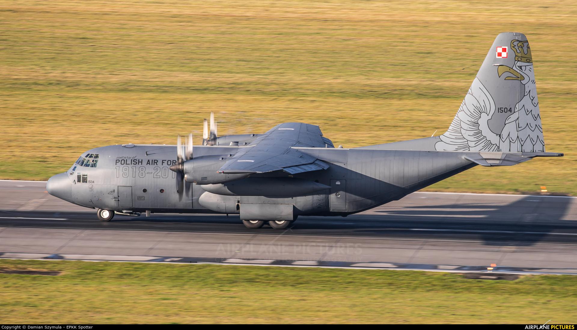 Poland - Air Force 1504 aircraft at Kraków - John Paul II Intl