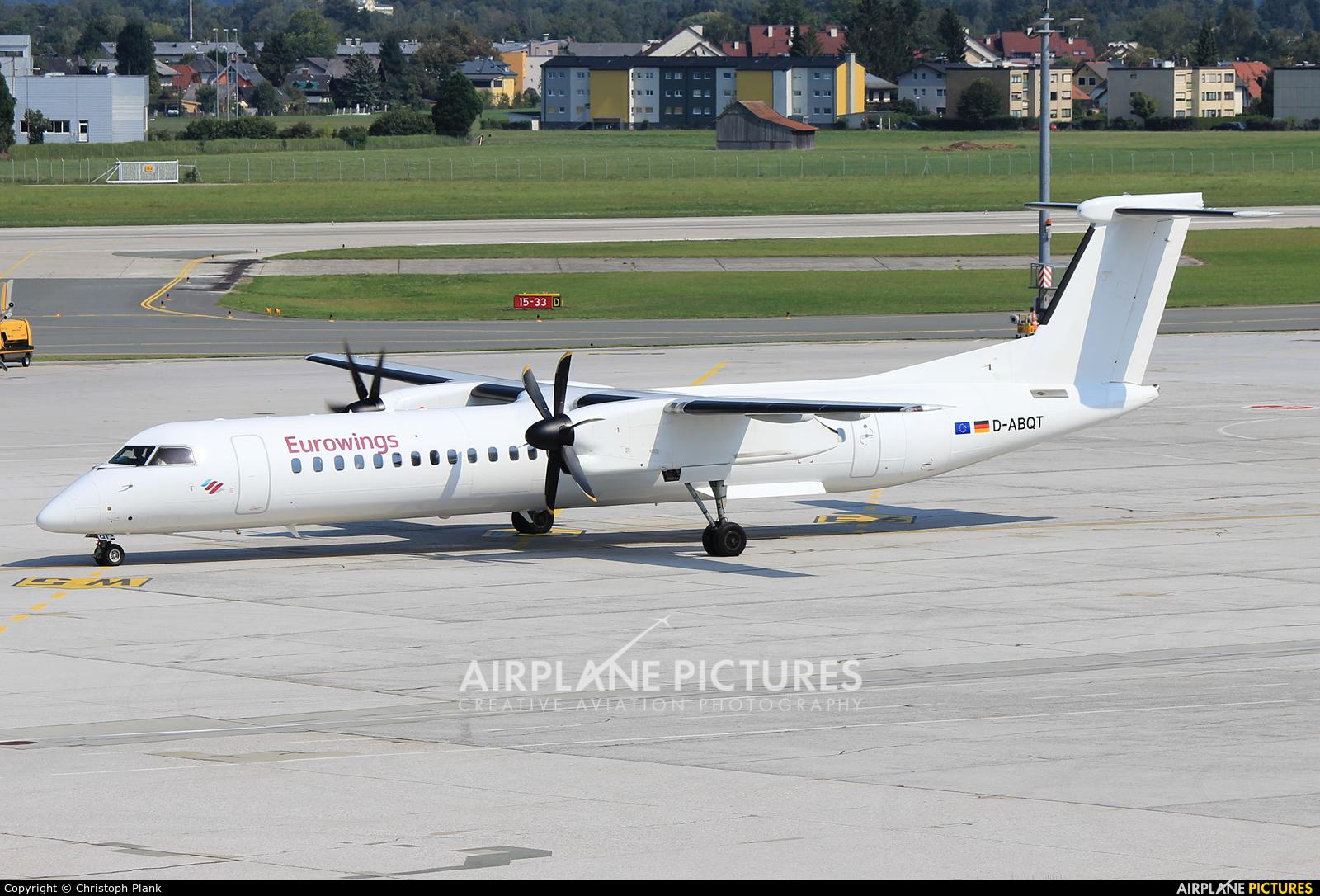 Eurowings D-ABQT aircraft at Salzburg