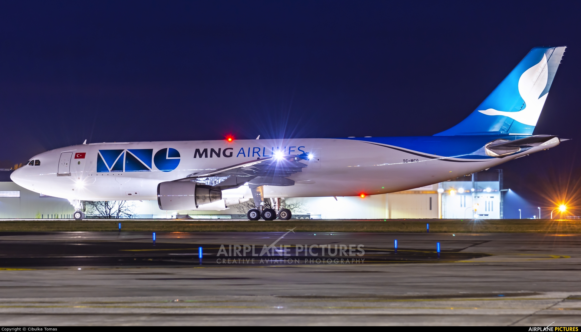 MNG Cargo TC-MCG aircraft at Prague - Václav Havel