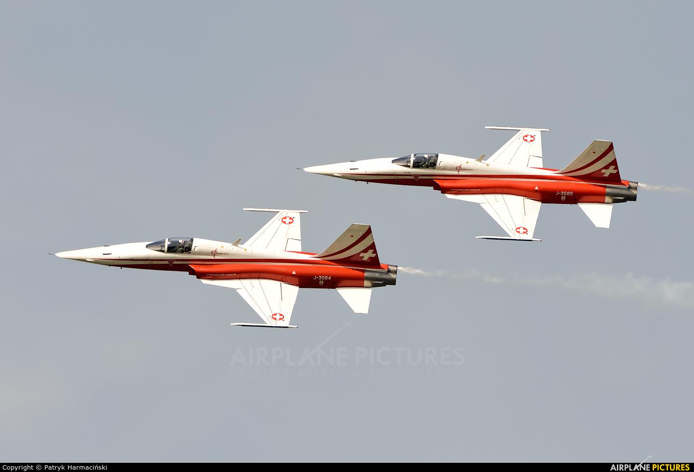 Switzerland - Air Force: Patrouille Suisse J-3084 aircraft at Radom - Sadków