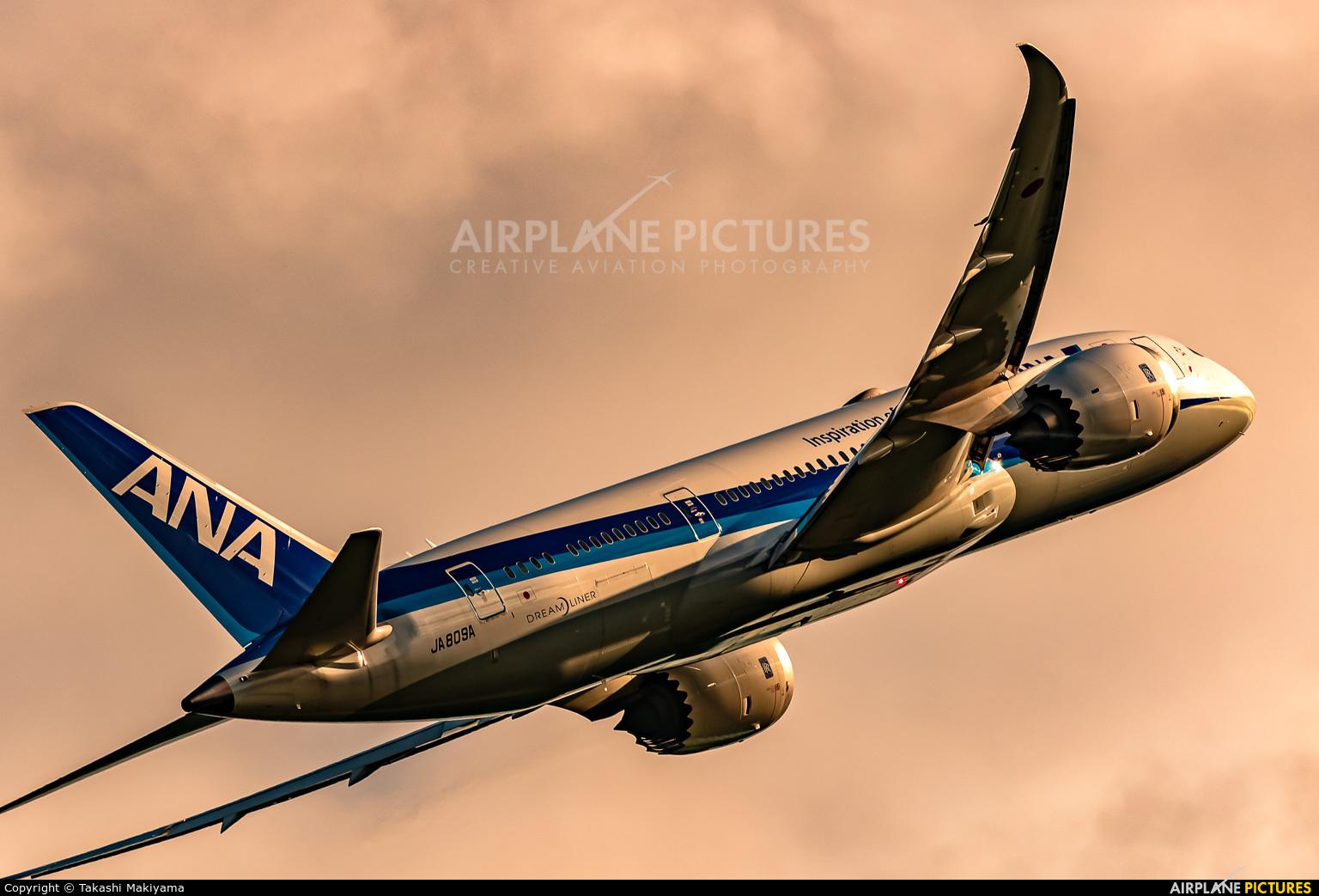 ANA - All Nippon Airways JA809A aircraft at Okayama