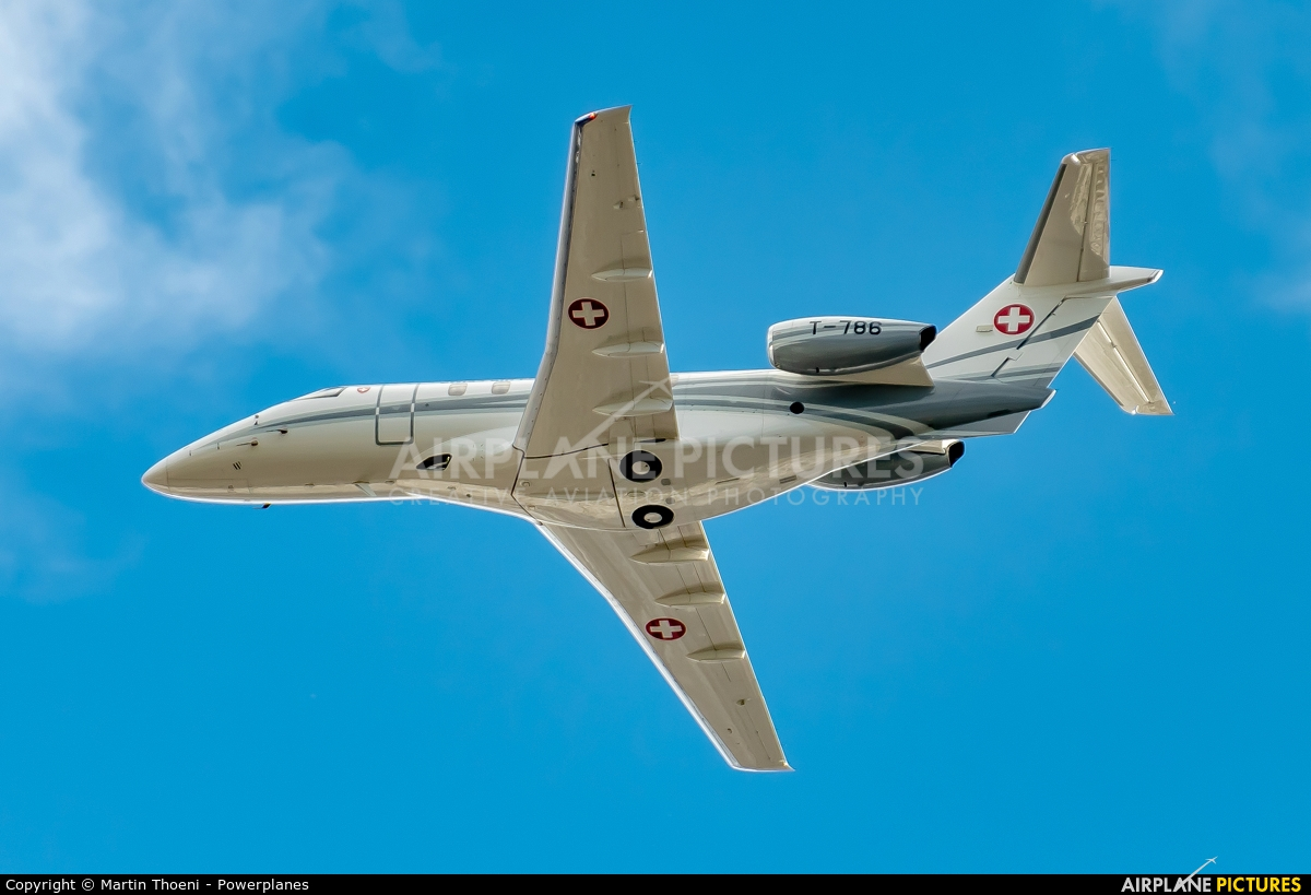 Switzerland - Air Force T-786 aircraft at Axalp - Ebenfluh Range