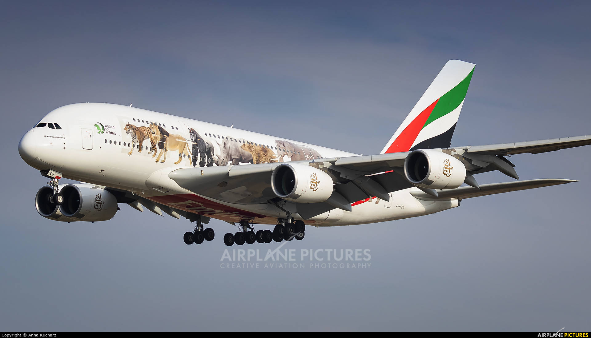Emirates Airlines A6-EEQ aircraft at Barcelona - El Prat