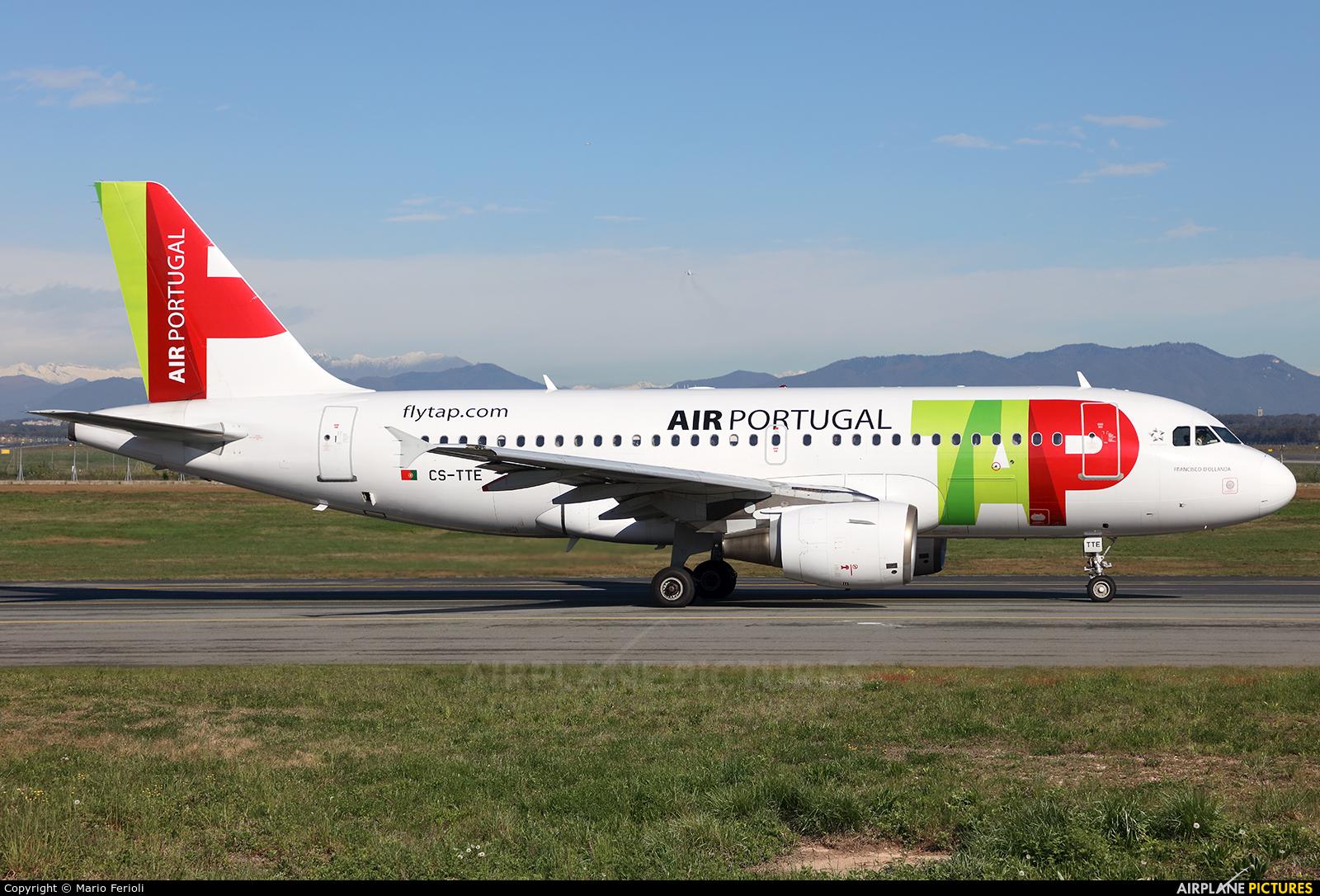 TAP Portugal CS-TTE aircraft at Milan - Malpensa