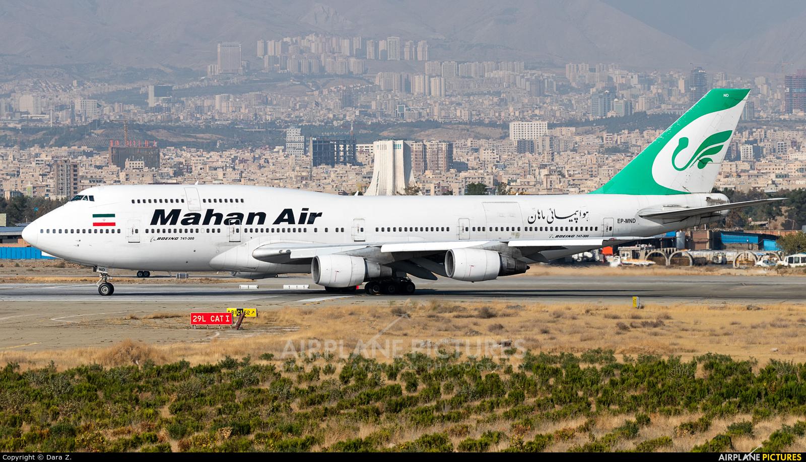 Mahan Air EP-MND aircraft at Tehran - Mehrabad Intl