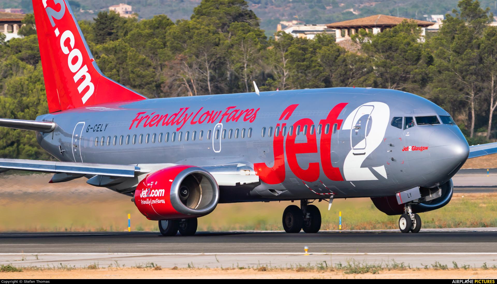 Jet2 G-CELY aircraft at Palma de Mallorca