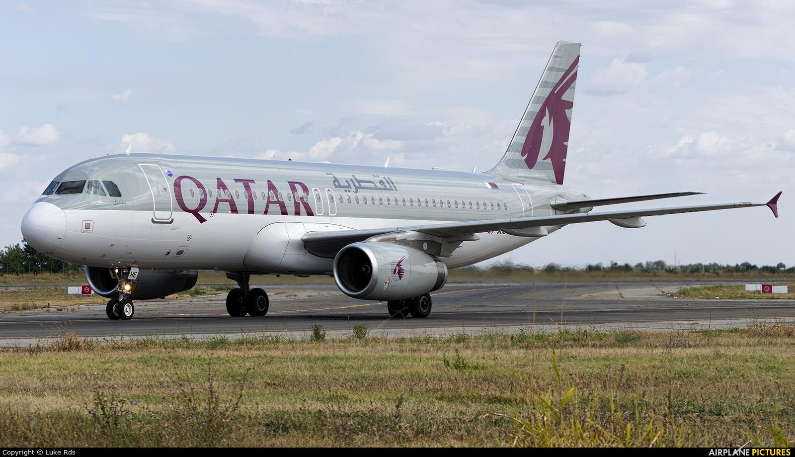 Qatar Airways A7-AHE aircraft at Bucharest - Henri Coandă