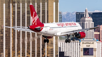N523VA - Virgin America Airbus A319