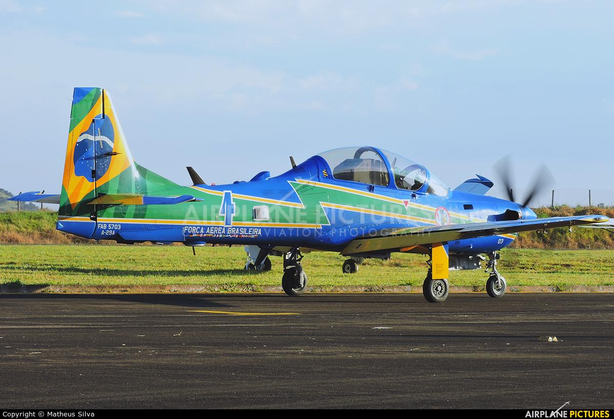 "Brazil - Air Force ""Esquadrilha da Fumaça"" FAB5703 aircraft at Guaxupé"