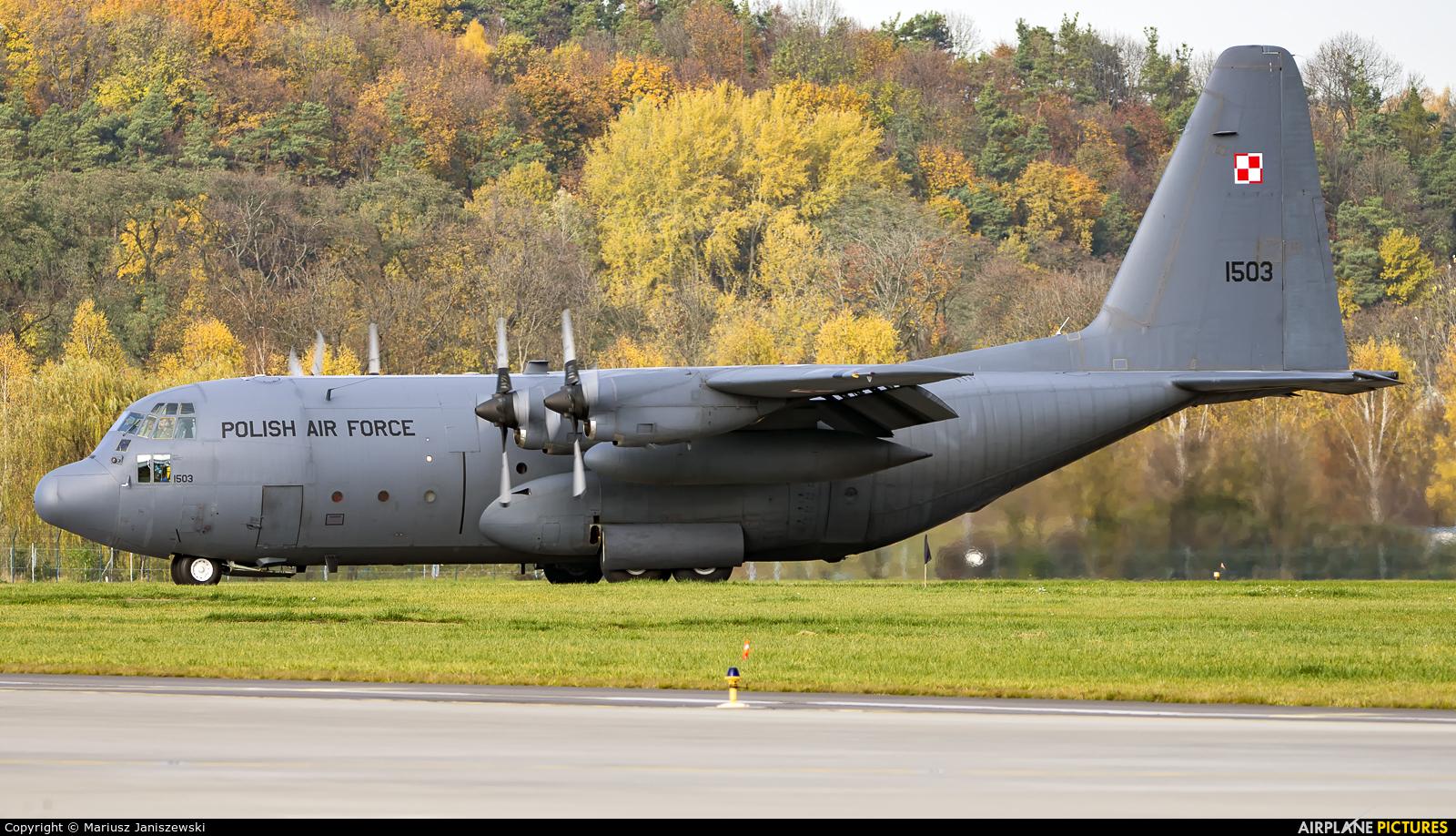 Poland - Air Force 1503 aircraft at Kraków - John Paul II Intl