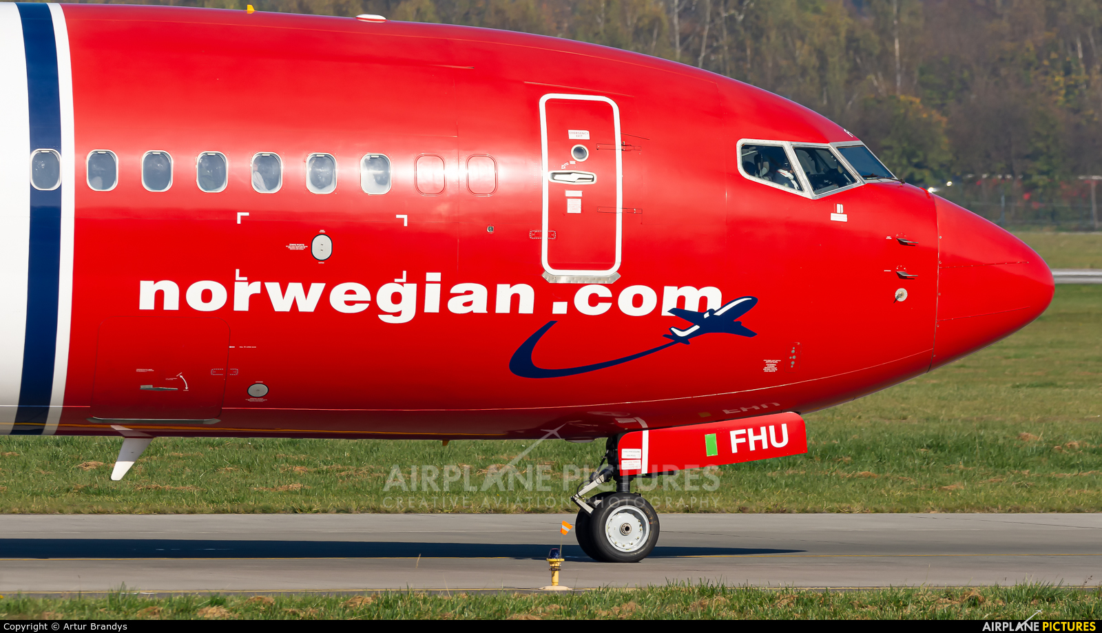 Norwegian Air International EI-FHU aircraft at Kraków - John Paul II Intl