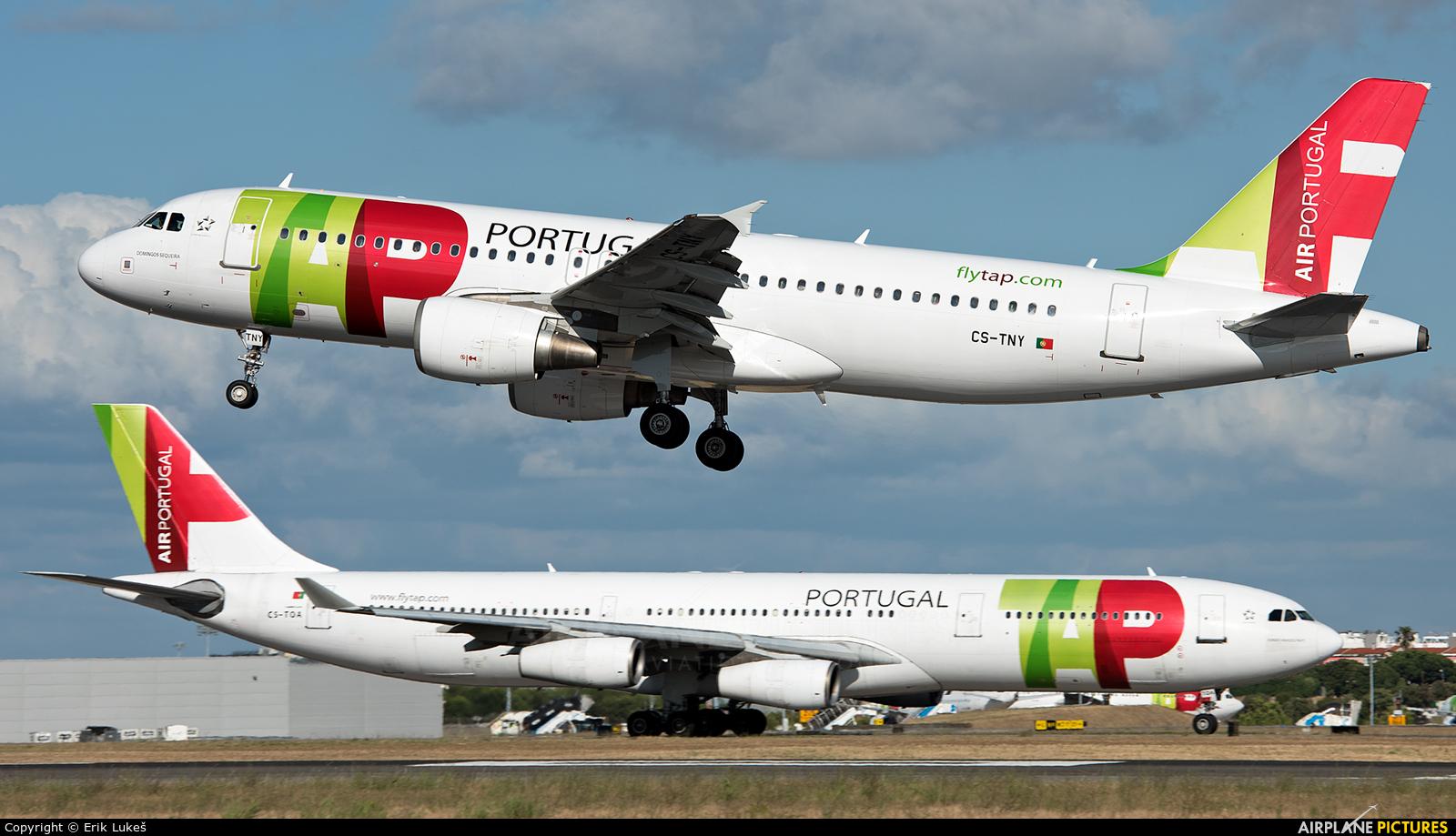 TAP Portugal CS-TNY aircraft at Lisbon