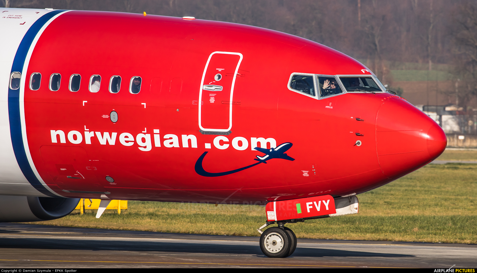 Norwegian Air International EI-FVY aircraft at Kraków - John Paul II Intl