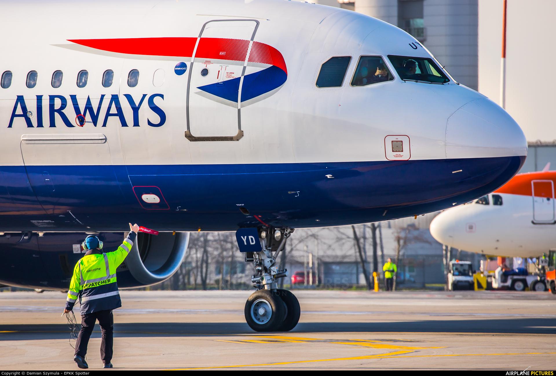 British Airways G-EUYD aircraft at Kraków - John Paul II Intl