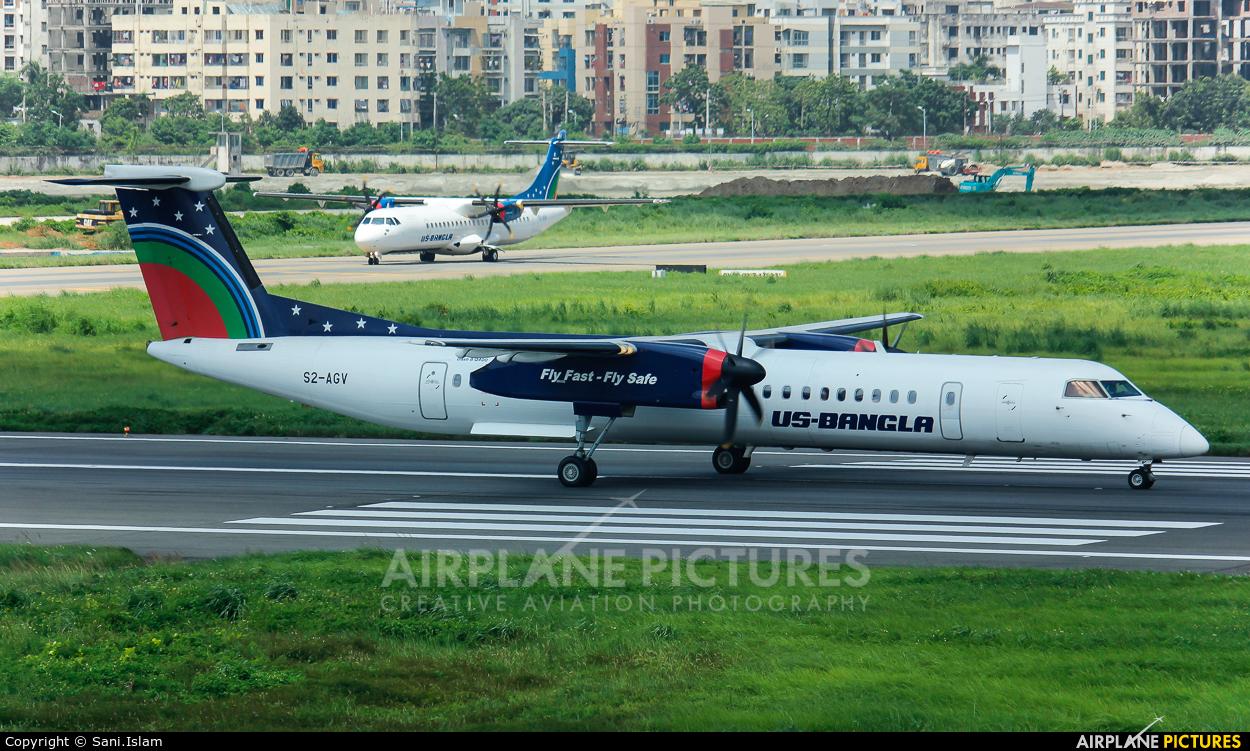 US-Bangla S2-AGV aircraft at Dhaka - Hazrat Shahjala Intl