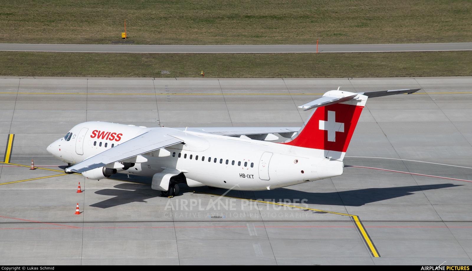 Swiss HB-IXT aircraft at Zurich