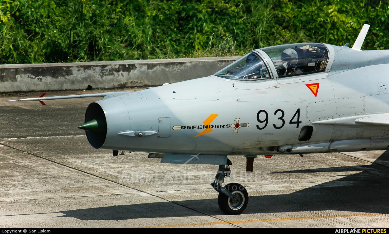 Bangladesh - Air Force F934 aircraft at Dhaka - Hazrat Shahjala Intl