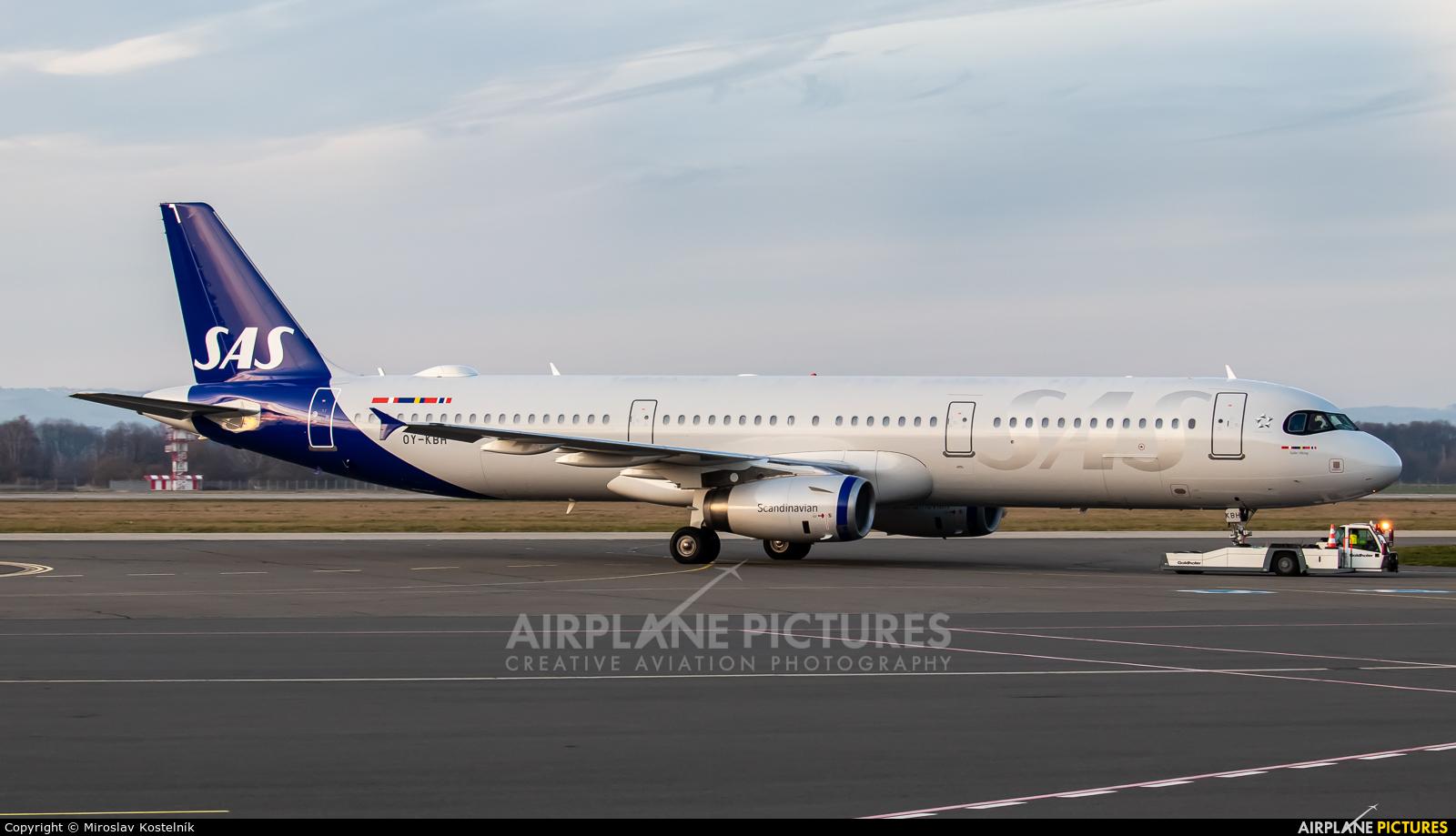 SAS - Scandinavian Airlines OY-KBH aircraft at Ostrava Mošnov