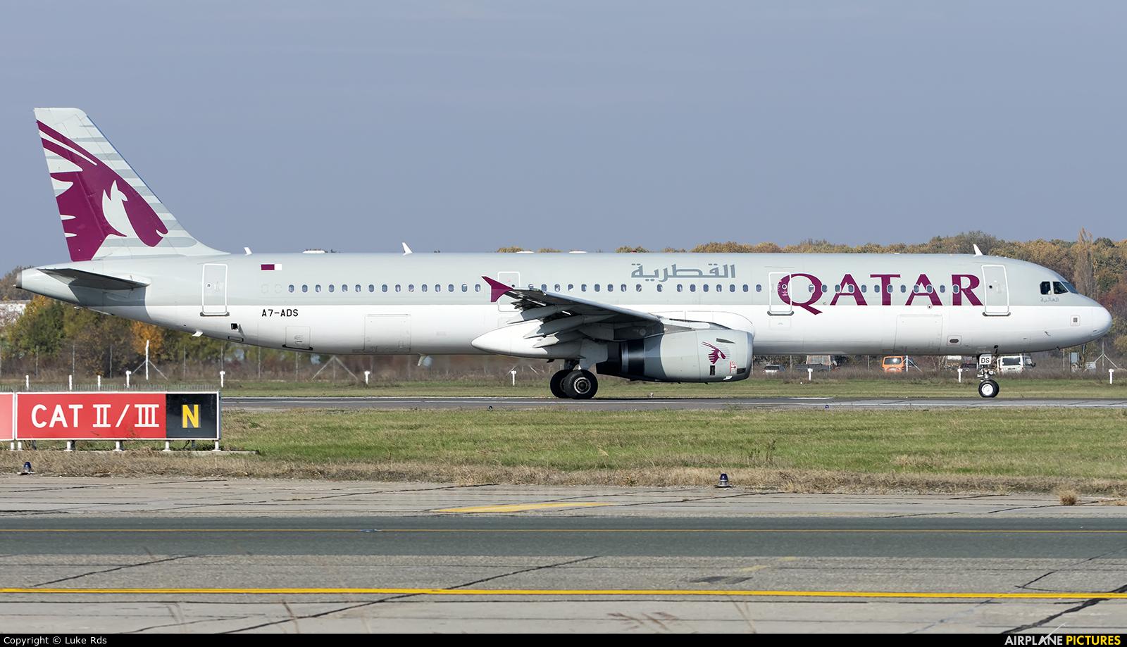 Qatar Airways A7-ADS aircraft at Bucharest - Henri Coandă