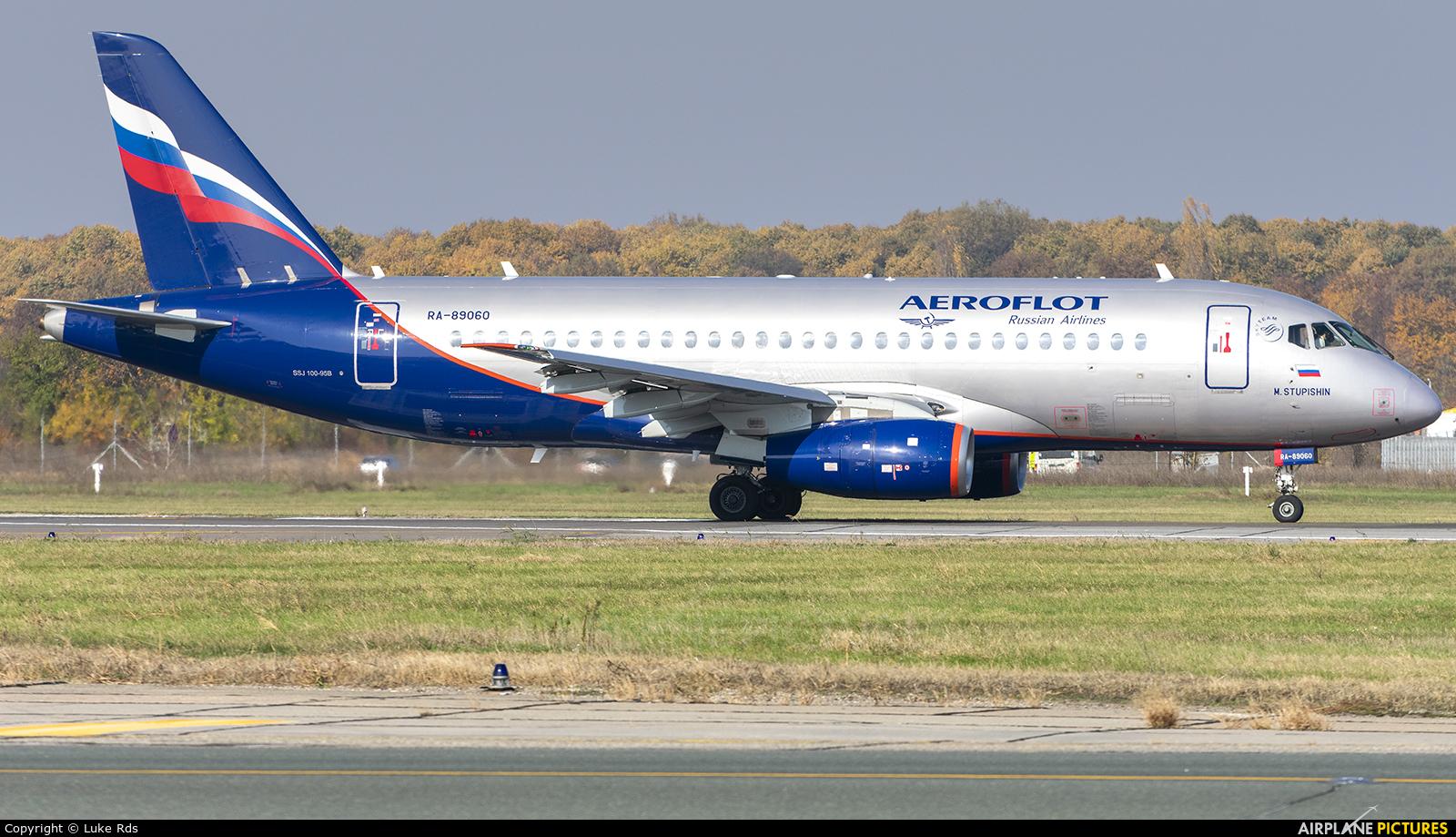 Aeroflot RA-89060 aircraft at Bucharest - Henri Coandă
