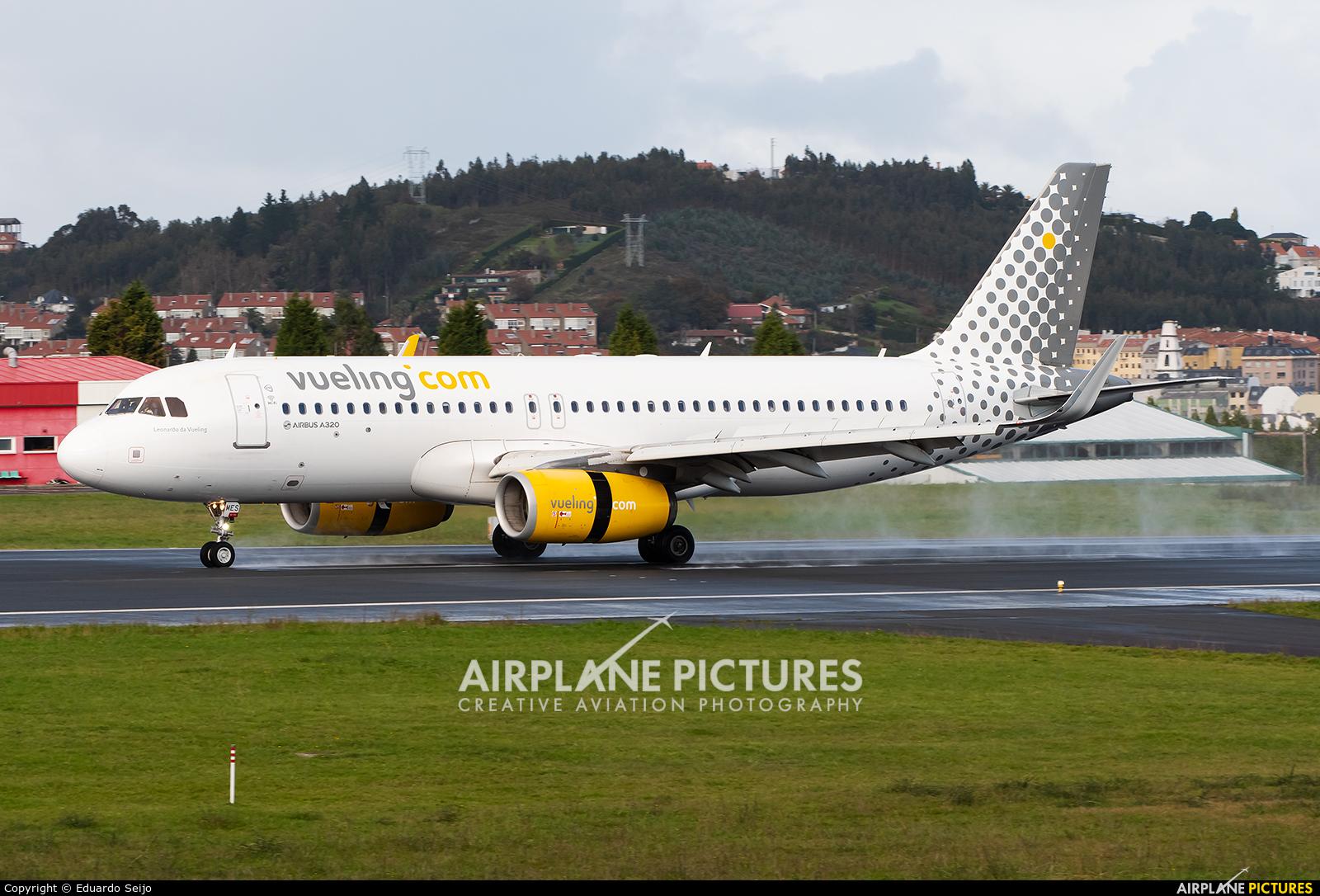 Vueling Airlines EC-MES aircraft at La Coruña