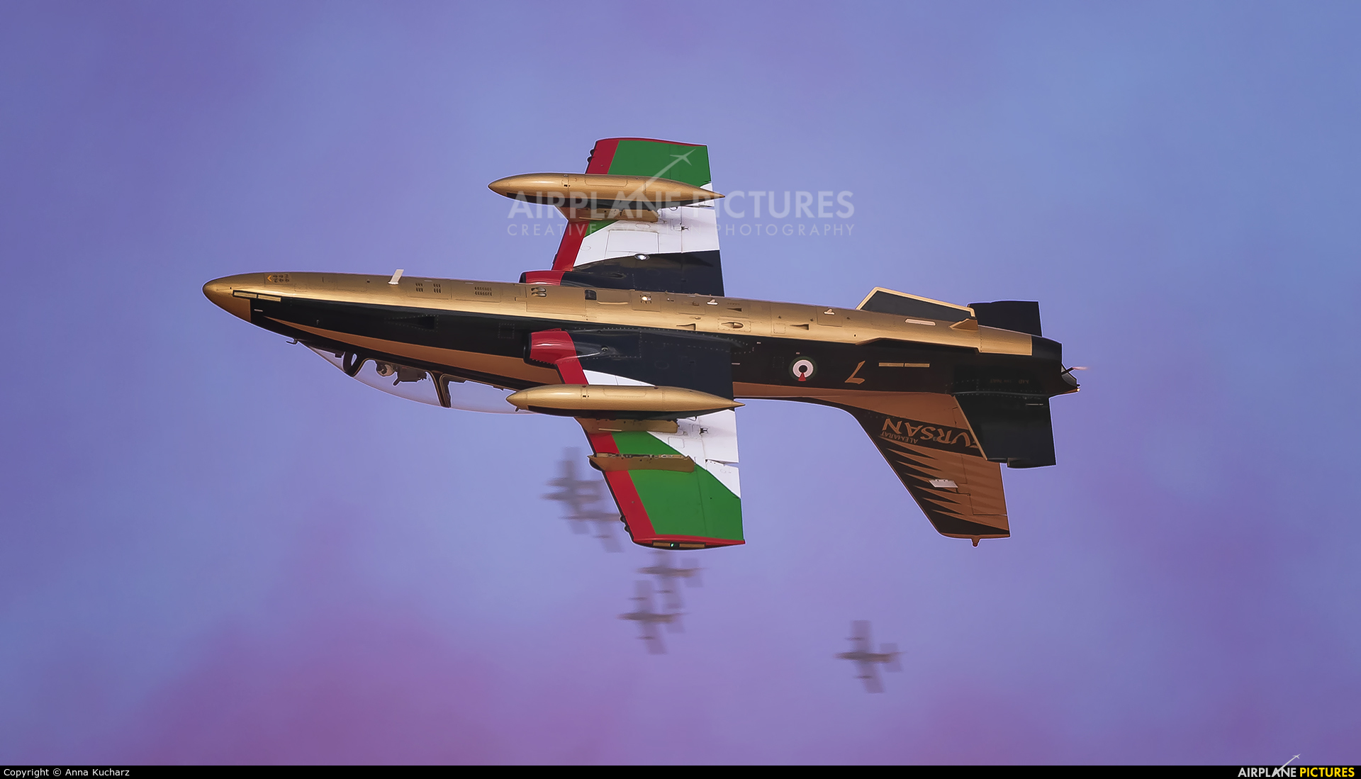 "United Arab Emirates - Air Force ""Al Fursan"" 437 aircraft at Jebel Ali Al Maktoum Intl"