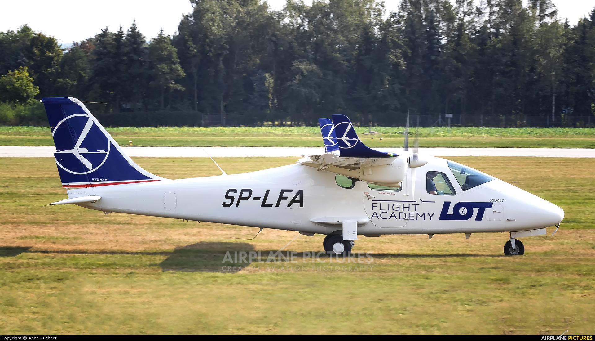 LOT Flight Academy SP-LFA aircraft at Rzeszów-Jasionka