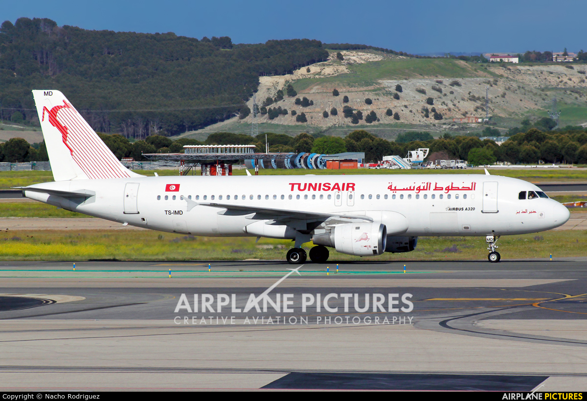 Tunisair TS-IMD aircraft at Madrid - Barajas