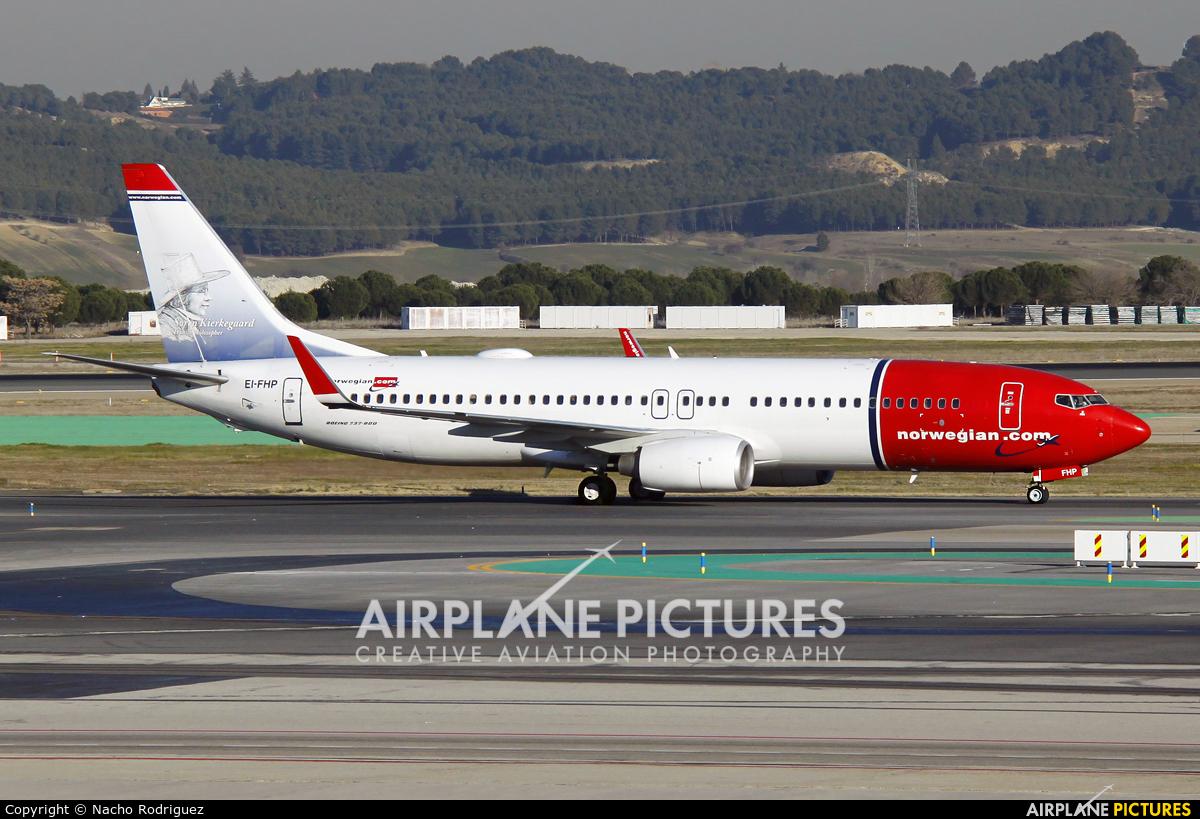 Norwegian Air Shuttle EI-FHP aircraft at Madrid - Barajas