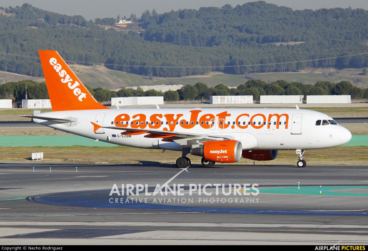 easyJet G-EZBM aircraft at Madrid - Barajas