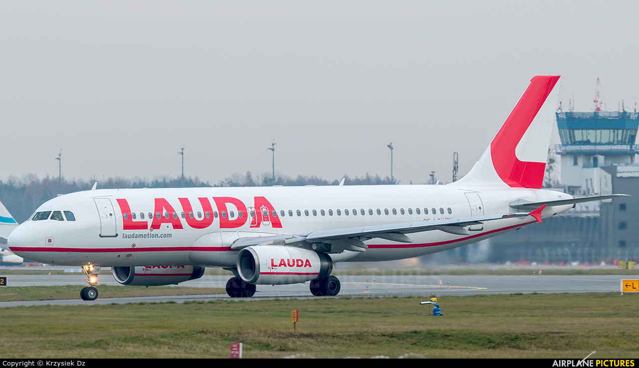 LaudaMotion OE-LOW aircraft at Katowice - Pyrzowice