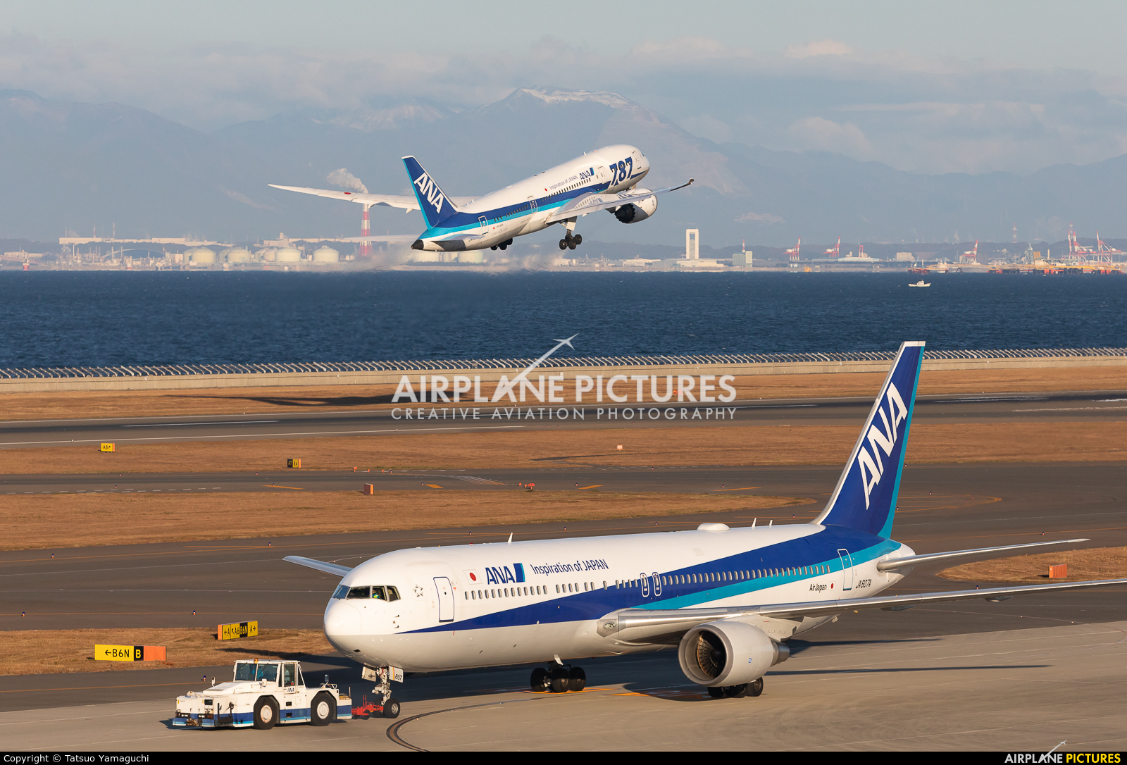 ANA - All Nippon Airways JA607A aircraft at Chubu Centrair Intl