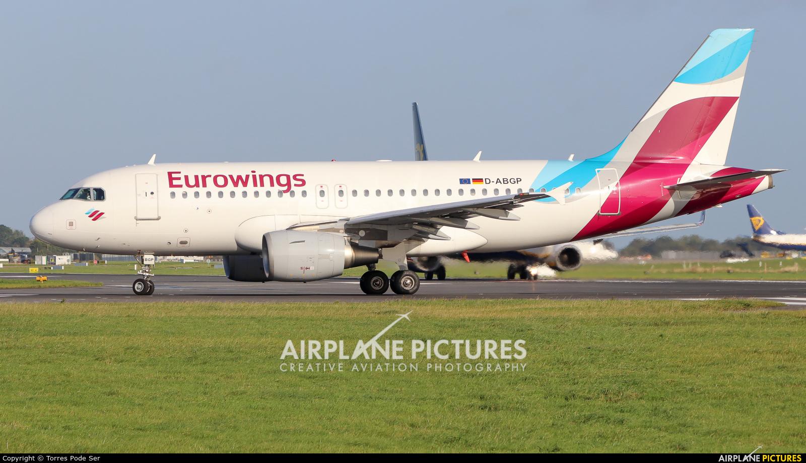 Eurowings D-ABGP aircraft at Dublin