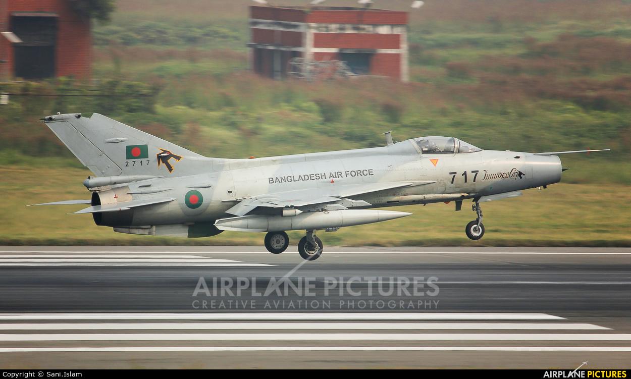 Bangladesh - Air Force 2717 aircraft at Dhaka - Hazrat Shahjala Intl