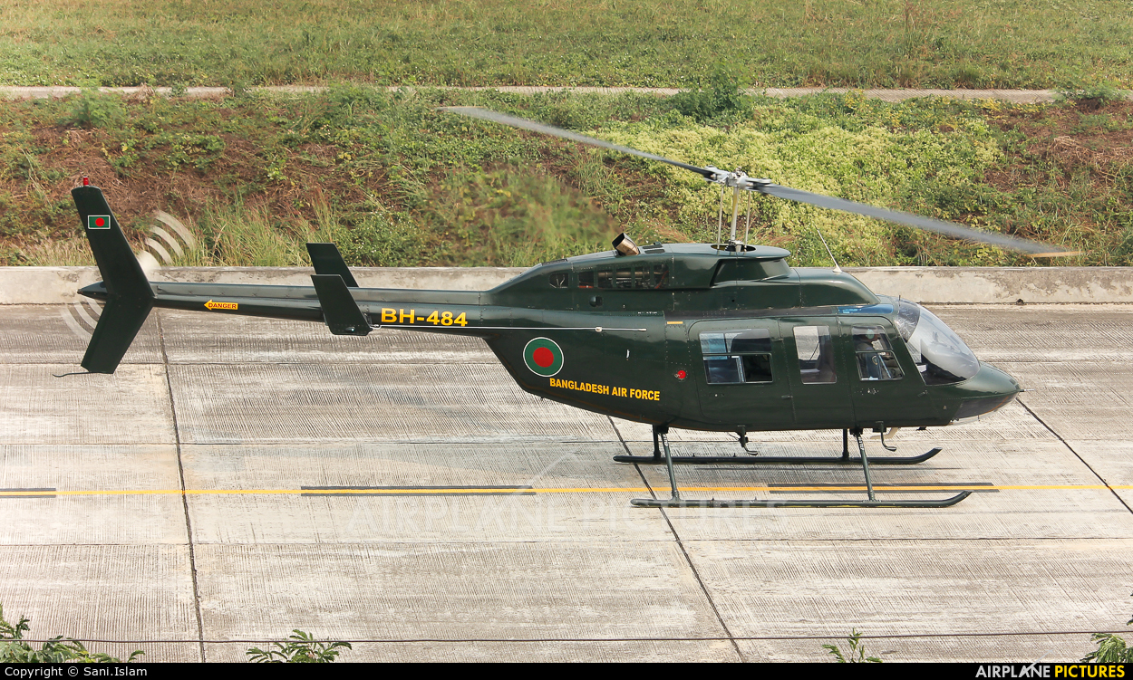 Bangladesh - Air Force BH-484 aircraft at Dhaka - Hazrat Shahjala Intl