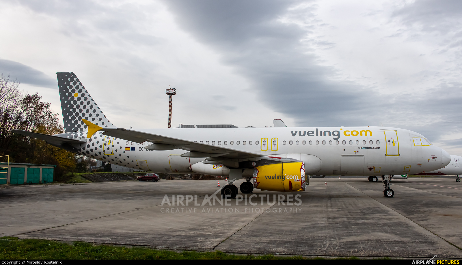 Vueling Airlines EC-LQZ aircraft at Ostrava Mošnov
