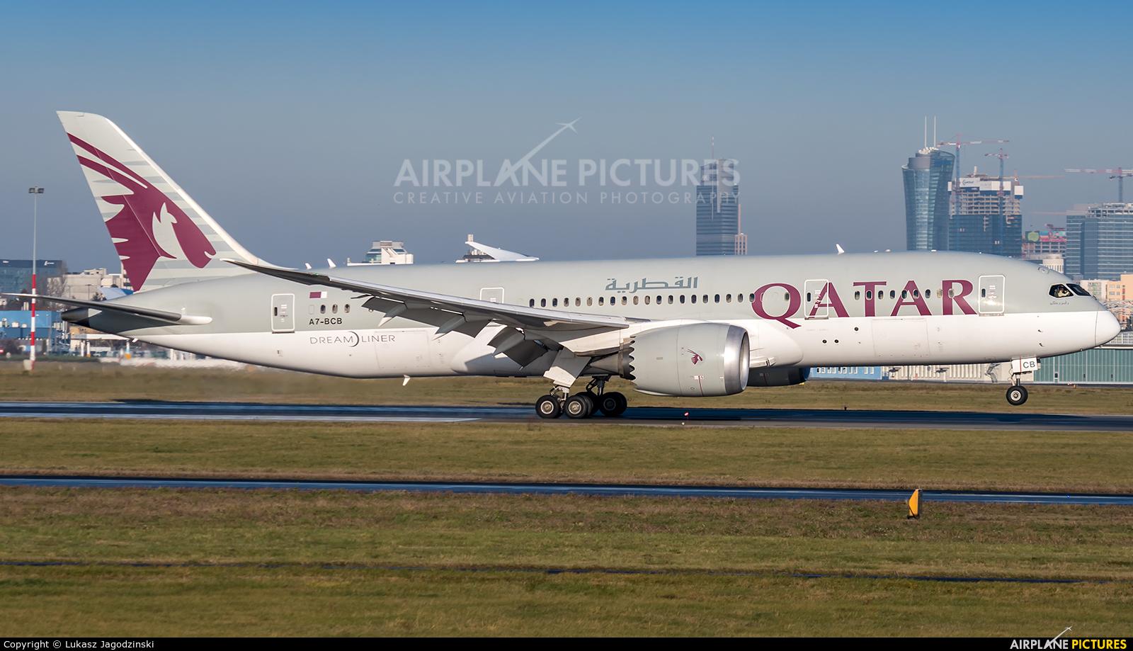 Qatar Airways A7-BCB aircraft at Warsaw - Frederic Chopin