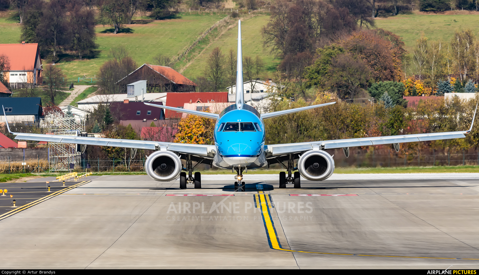 KLM Cityhopper PH-EZT aircraft at Kraków - John Paul II Intl