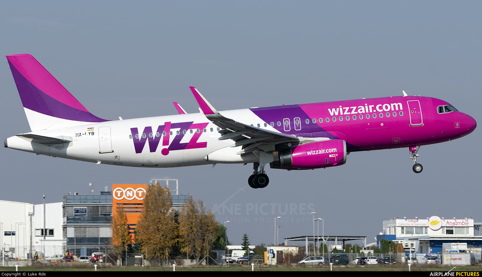 Wizz Air HA-LYB aircraft at Bucharest - Henri Coandă