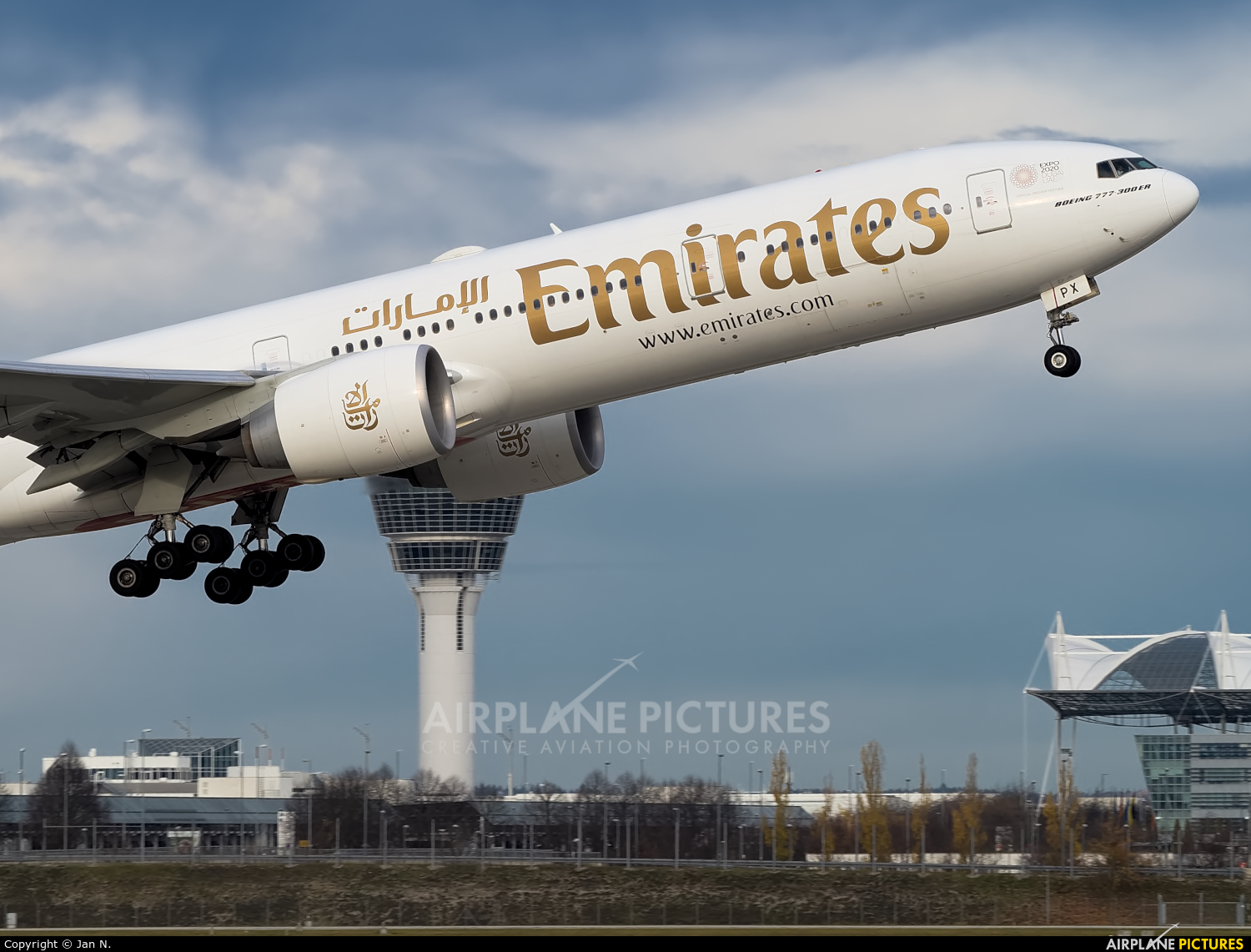 Emirates Airlines A6-EPX aircraft at Munich